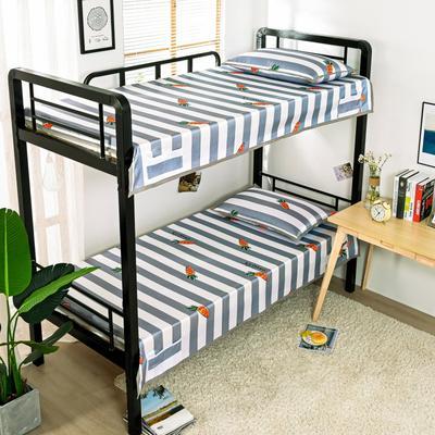 2020新款专利学生宿舍寝室冰丝凉席 单人上下铺寝室凉席枕席二件套 通用款120*200  2件套 萝卜乐园