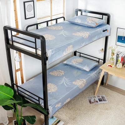 2020新款专利学生宿舍寝室冰丝凉席 单人上下铺寝室凉席枕席二件套 1.2米款145*200 2件套 叶愫-灰