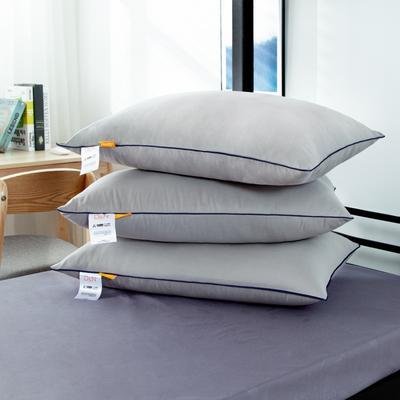 2020新款羽丝绒枕芯 单人学生枕头 灰色/个