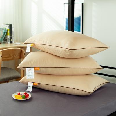 2020新款羽丝绒枕芯 单人学生枕头 咖色/个
