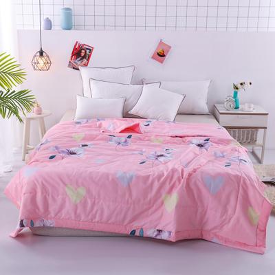 2020新品全棉夏被 单双人棉花被 纯棉空调被 150x200cm单夏被 浪漫花语