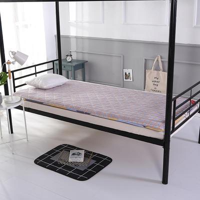 2020新款学生宿舍上下铺床垫 单人寝室硬质棉床褥垫子 0.9*1.9米 格调风情