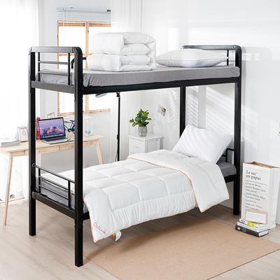 2020新款四季羽丝绒化纤被 单人学生宿舍被芯 寝室纤维被子 150x210cm 米白