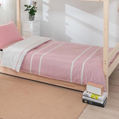 2020新品全棉水洗色织单人宿舍被套 学生寝室单被套 150X210cm 初恋-粉