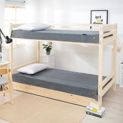 2020新品全棉水洗色织单人宿舍床单 学生寝室上下铺单床单 床单125*200cm通用款 宝莉格