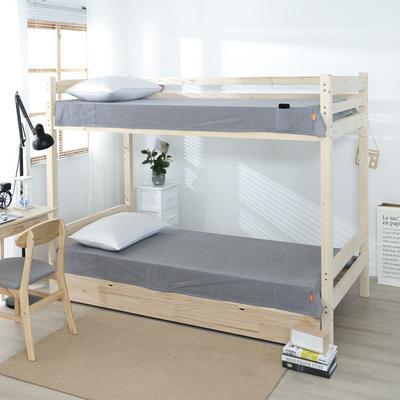 2020新品全棉水洗色织单人宿舍床单 学生寝室上下铺单床单 床单125*200cm通用款 梦想蓝条纹