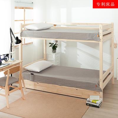 2020新品全棉水洗色织单人宿舍床单 学生寝室上下铺单床单 床单125*200cm通用款 文艺米小格