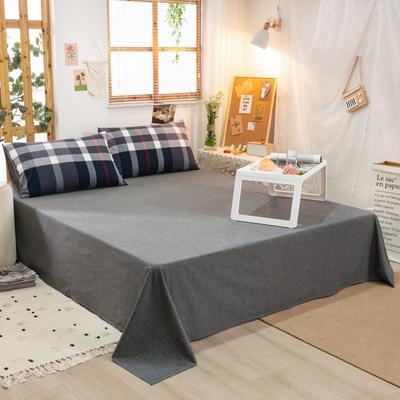 2020新品全棉水洗色织双人床单 寝室加大单床单 240cmx270cm 宝莉格