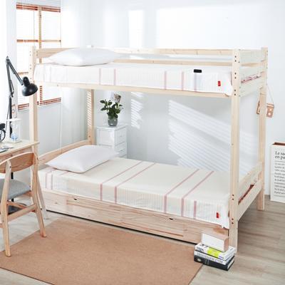 2020新品全棉水洗色织单双人床单 单人宿舍上下铺学生床单 双人加大床单 150*200cm 初恋-粉