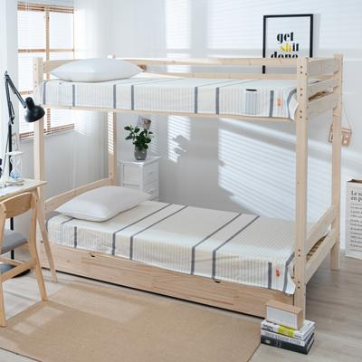 2020新品全棉水洗色织单双人床单 单人宿舍上下铺学生床单 双人加大床单 150*200cm 初恋-灰