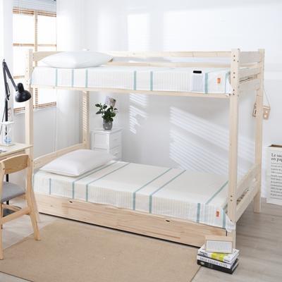 2020新品全棉水洗色织单双人床单 单人宿舍上下铺学生床单 双人加大床单 150*200cm 初恋-绿