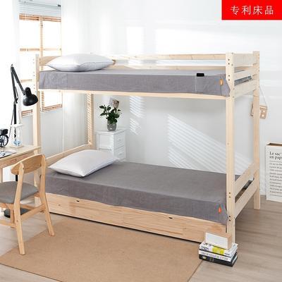 2020新品全棉水洗色织单双人床单 单人宿舍上下铺学生床单 双人加大床单 150*200cm 梦想绿条纹