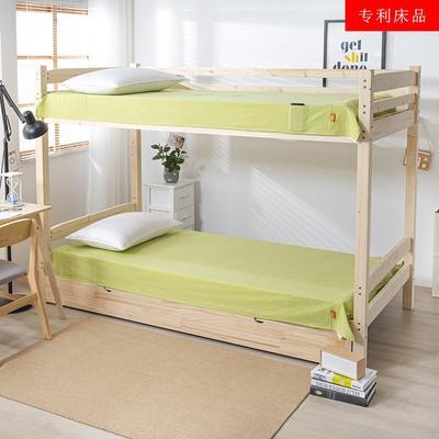 2020新品全棉水洗色织单双人床单 单人宿舍上下铺学生床单 双人加大床单 150*200cm 文艺绿小条