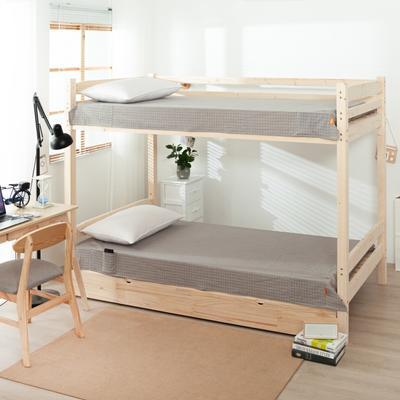 2020新品全棉水洗色织单双人床单 单人宿舍上下铺学生床单 双人加大床单 150*200cm 文艺米小格