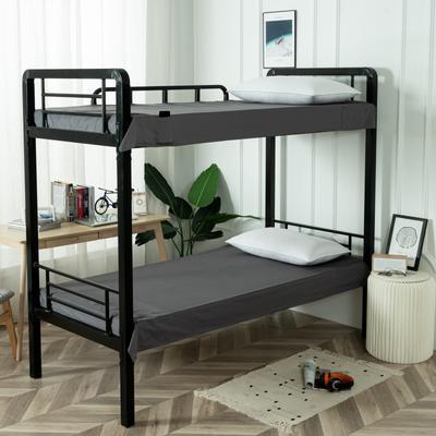 2020新款全棉贡缎60支学生宿舍床单 纯棉单人寝室上下铺床单子 150*200cm适用于1.2床 铅灰
