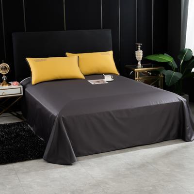 2020新品纯棉贡缎60S双人床单 全棉纯色褥单 240*270cm适用于2米床 铅灰
