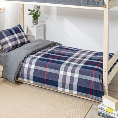 2020新品全棉水洗色织单人宿舍被套 学生寝室单被套 150X210cm 宝莉格