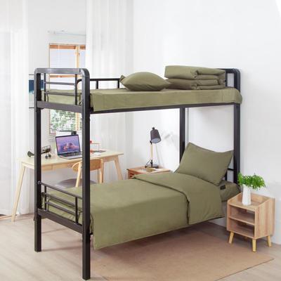 2020新款全棉三件套 纯棉军绿单人床单三件套 床上用品套件 1.0m床单款三件套 军绿 专利款