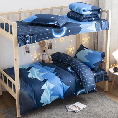 2020磨毛化纤学生上下铺三件套 单人宿舍床上用品套件 1.2m 三件套 晚安
