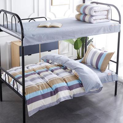 2020全棉13372学生三件套 宿舍上下铺单人床上用品套件 通用款1.0床 品味时尚