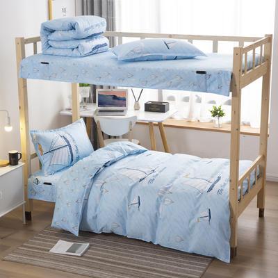 2020全棉13372学生三件套 宿舍上下铺单人床上用品套件 通用款1.0床 热气球