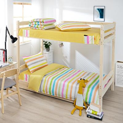 2020全棉13372学生三件套 宿舍上下铺单人床上用品套件 通用款1.0床 艳图