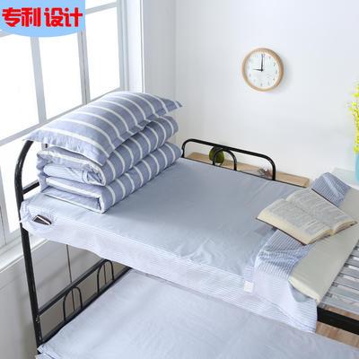 2020全棉13372学生三件套 宿舍上下铺单人床上用品套件 通用款1.0床 简约 灰
