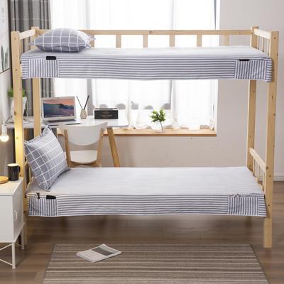 2020全棉13372学生上下铺床单 单人宿舍寝室单被单 150*200cm 简约方格