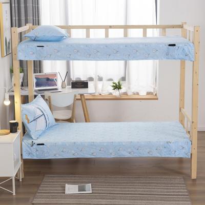 2020全棉13372学生上下铺床单 单人宿舍寝室单被单 150*200cm 热气球