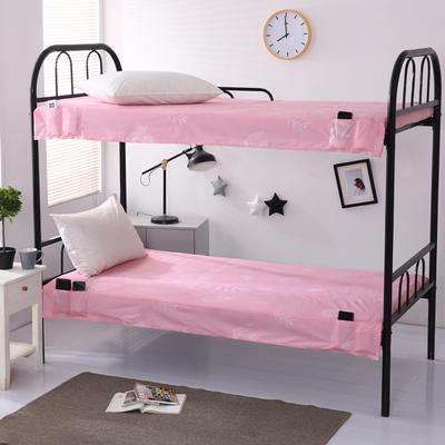 2020全棉13372学生上下铺床单 单人宿舍寝室单被单 150*200cm 树叶粉
