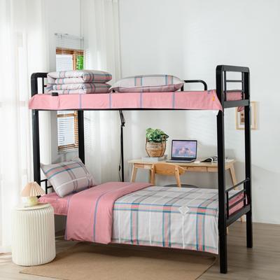 2020全棉生态磨毛三件套 纯棉学生宿舍上下铺床单床上用品套件 通用款1.0床 艾泽拉斯