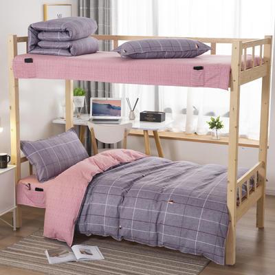 2020全棉生态磨毛三件套 纯棉学生宿舍上下铺床单床上用品套件 通用款1.0床 思逸