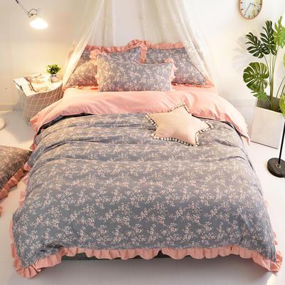 2018针织棉印花四件套 1.5m(5英尺)床 花月照影