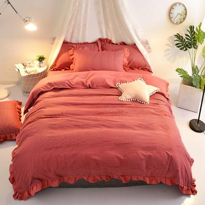 2018针织棉印花四件套 1.5m(5英尺)床 简约时代