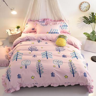 2018针织棉印花四件套 1.5m(5英尺)床 星月童话
