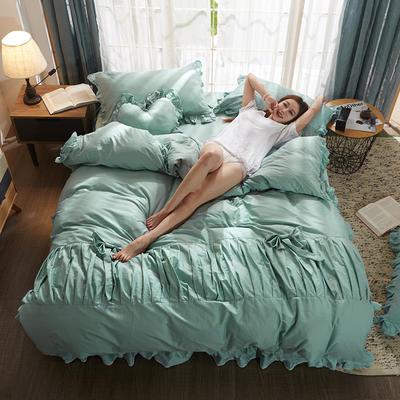 2019新款-全棉13372公主风四件套 标准1.5-1.8m床 床单款 公主风-绿