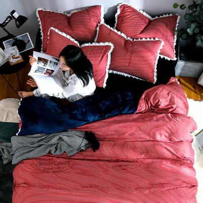 2019新款针织棉法莱绒四件套 1.8m(床单款四件套) 简约时代