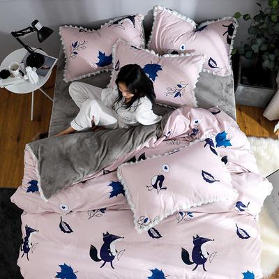 2019新款针织棉法莱绒四件套 1.8m(床单款四件套) 梦幻时光