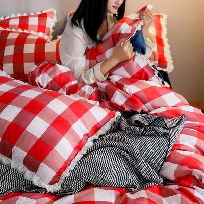 2019新款针织棉法莱绒四件套 1.8m(床单款四件套) 品味人生