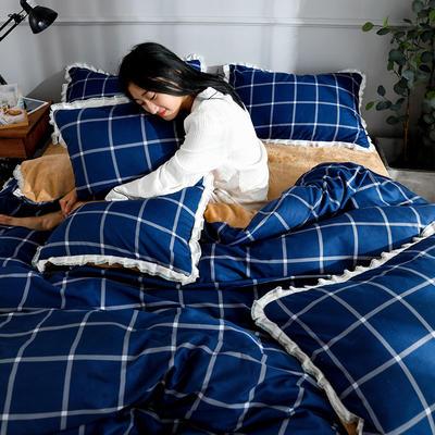 2019新款针织棉法莱绒四件套 1.8m(床单款四件套) 往事随风