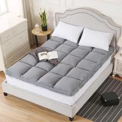 加厚磨毛立体羽丝绒床垫 1.8m(6英尺)床 灰色