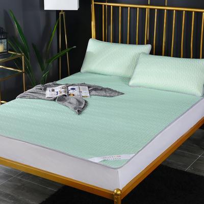 涼感乳膠涼席 涼感乳膠冰絲席  天絲乳膠涼席 冰絲乳膠席 2.0*2.2m床三件套 薄荷綠