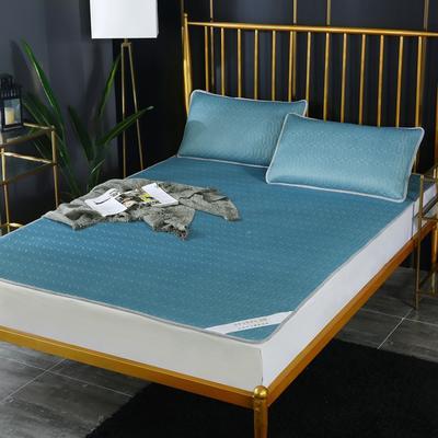 涼感乳膠涼席 涼感乳膠冰絲席  天絲乳膠涼席 冰絲乳膠席 2.0*2.2m床三件套 皇室藍