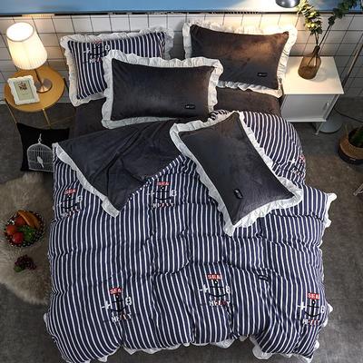 2018新款韩版小清新棉加绒四件套 1.8m(6英尺)床 奇遇记
