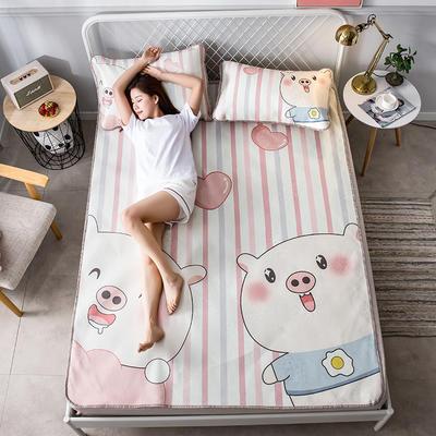 2019新款大版花冰丝席 150*200cm 宠爱猪