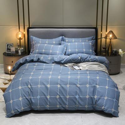 2019秋冬新品-全棉加厚磨毛四件套 床单款三件套1.2m(4英尺)床 点彩年华 灰