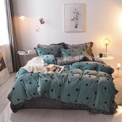 2019新款-韩版宝宝绒四件套 床单款1.5m(5英尺)床 草绿