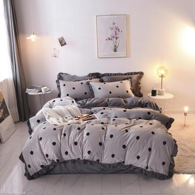 2019新款-韩版宝宝绒四件套 床单款1.5m(5英尺)床 灰色