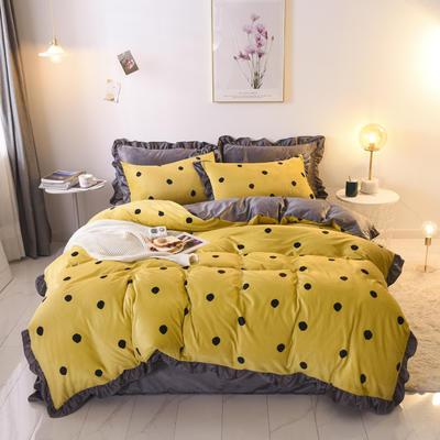 2019新款-韩版宝宝绒四件套 床单款1.5m(5英尺)床 亮黄