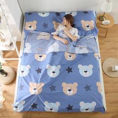 2018新品全棉旅行隔脏睡袋 熊宝贝1.2*2.3米
